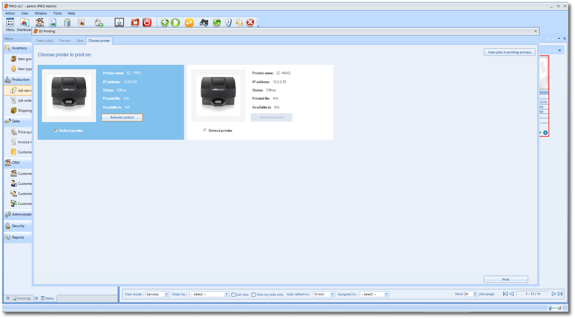 3D printer management | SolidPIRO jewelry software