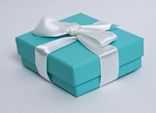 Jewelry branding Tiffany blue box